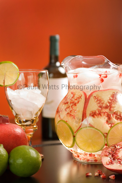 Pomegranate and lime water