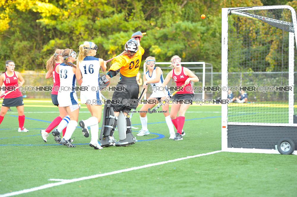 Staples High School Field Hockey..Staples ties New Canaan 2-2..Megan O'Shea