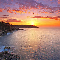 Acadia Magic – Sunrise Maine Acadia National Park coastal photography images are available as museum quality photography prints, canvas prints, acrylic prints or metal prints. Prints may be framed and matted to the individual liking and room decor needs:<br />