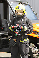 Special fire marshalls from Spain are employed for fire risk of new electric Motor bikes during the HJC Helmets Motorrad Grand Prix Deutschland at Hohenstein-Ernstthal, Chemnitz, Saxony, Germany on 5 July 2019.