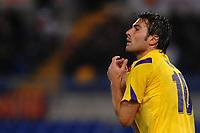 """delusione Adrian MUTU Fiorentina<br /> Roma 10/11/2010 Stadio """"Olimpico""""<br /> Campionato Italiano Serie A 2010/2011<br /> Roma Vs Fiorentina<br /> Foto Andrea Staccioli Insidefoto"""