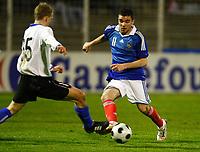 Fotball<br /> Frankrike v Estland<br /> Foto: DPPI/Digitalsport<br /> NORWAY ONLY<br /> <br /> FOOTBALL - FRIENDLY GAMES 2008/2009 - UNDER 21 - FRANCE v ESTONIA - 27/03/2009 - MARVIN MARTIN (FRA) / ERIK REINSOO (ES)