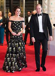The Duke and Duchess of Cambridge attending the EE British Academy Film Awards held at the Royal Albert Hall, Kensington Gore, Kensington, London.