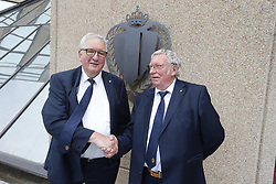 June 24, 2017 - Brussels, BELGIUM - Gilbert Timmermans and Gerard Linard pose ahead of the general assembly and chairman elections of the Royal Belgian Soccer Union (KBVB - URBSFA), Saturday 24 June 2017, in Brussels...BELGA PHOTO NICOLAS MAETERLINCK (Credit Image: © Nicolas Maeterlinck/Belga via ZUMA Press)