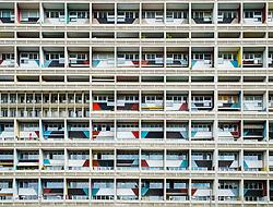 External view of Corbusierhaus modernist apartment building built as Unite d'habitation in Berlin Germany