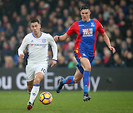 Crystal Palace's Stephen Kelly tussles with Chelsea's Eden Hazard during the Premier League match at Selhurst Park Stadium, London. Picture date December 17th, 2016 Pic David Klein/Sportimage