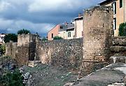 Town walls of Tuscania, Viterbo, Lazio Region, Italy 1998