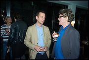 MATTHEW SLOTOVER; MARK DARBYSHIRE, Frieze party, ACE hotel Shoreditch. London. 18 October 2014