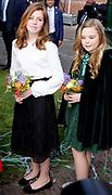 Koningsdag 2018 in Groningen / Kingsday 2018 in Groningen.<br /> <br /> Op de foto: Prinses Alexia en Prinses Ariane ///  Princess Amalia and Princess Alexia