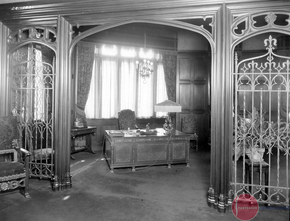 President's office at Studebaker's Administration Building, 1924.