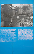 Information poster and photograph about  zeppelin raids in 1915 and 1916, Hull, Yorkshire, England