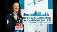 CASTIGLIONI Arianna Italy ITA Silver Medal<br /> 100 breaststroke women Final<br /> Glasgow 07/12/2019<br /> XX LEN European Short Course Swimming Championships 2019<br /> Tollcross International Swimming Centre<br /> Photo  Giorgio Scala / Deepbluemedia / Insidefoto