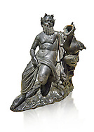 Roman Bronze sculpture of Silenus from atrium of the Villa of the Papyri in Herculaneum, Museum of Archaeology, Italy, white background ..<br /> <br /> If you prefer to buy from our ALAMY STOCK LIBRARY page at https://www.alamy.com/portfolio/paul-williams-funkystock/greco-roman-sculptures.html . Type -    Naples    - into LOWER SEARCH WITHIN GALLERY box - Refine search by adding a subject, place, background colour, etc.<br /> <br /> Visit our ROMAN WORLD PHOTO COLLECTIONS for more photos to download or buy as wall art prints https://funkystock.photoshelter.com/gallery-collection/The-Romans-Art-Artefacts-Antiquities-Historic-Sites-Pictures-Images/C0000r2uLJJo9_s0