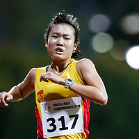 Jillian See of Singapore Polytechnic in action during the women's 5000m event. (Photo © Lim Yong Teck/Red Sports) The 2018 Institute-Varsity-Polytechnic Track and Field Championships were held over three days in January.<br /> <br /> Story: https://www.redsports.sg/2018/01/15/ivp-day-one/<br /> <br /> Story: https://www.redsports.sg/2018/01/18/ivp-day-two/<br /> <br /> Story: https://www.redsports.sg/2018/01/23/ivp-day-three/