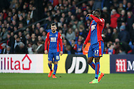 Christian Benteke of Crystal Palace looks dejected . Premier League match, Crystal Palace v Sunderland at Selhurst Park in London on Saturday 4th February 2017. pic by Steffan Bowen, Andrew Orchard sports photography.