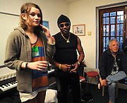 Chris Blackwell with I Blame Coco backstage with Toots at Island 50 concert 2009