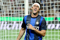 Football: Italy, Serie A, Inter Mailand, Milan, 09.08.2012.Diego Milito.© pixtahlon.ITA AND FRA OUT !