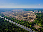Nederland, Gelderland, Gemeente Ede, 14–05-2020; zicht op Rijksweg A12 en natuurgebied de Ginkelse Heide.<br /> View of the A12 highway and nature reserves Ginkelse Heide.<br /> <br /> luchtfoto (toeslag op standaard tarieven);<br /> aerial photo (additional fee required)<br /> copyright © 2020 foto/photo Siebe Swart