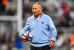 , Eddie Jones<br /> <br /> Photographer Craig Thomas/Replay Images<br /> <br /> Quilter International - England v Italy - Friday 6th September 2019 - St James' Park - Newcastle<br /> <br /> World Copyright © Replay Images . All rights reserved. info@replayimages.co.uk - http://replayimages.co.uk