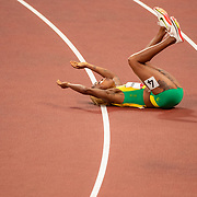 TOKYO, JAPAN - JULY 31:  Elaine Thompson-Herah of Jamaica celebrates winning the 100m final for women during the Athletics competition at the Olympic Stadium  at the Tokyo 2020 Summer Olympic Games on July 31, 2021 in Tokyo, Japan. (Photo by Tim Clayton/Corbis via Getty Images)