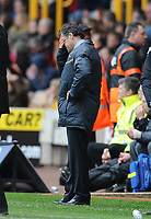 An Unhappy Dean Saunders Manager<br />Wolverhampton Wanderers 2012/13<br />Wolverhampton Wanderers V Burnley (1-2) 27/04/13<br />NPower Championship <br />Photo: Robin Parker Fotosports International