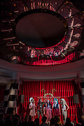 Denim perform on the opening weekend of revamped live entertainment venue - The Crazy Coqs, Live at Zedel - Denim,Glamrou La Denim, Crystal Vaginova, Electra Cute, Shirley Du Naughty & Aphrodite Jones, are a Cambridge founded musical comedy drag troope who last summer performed with Florence and The Machine at Glastonbury.