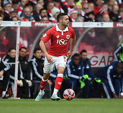 Bristol City's Derrick Williams in action during the FA Cup fourth round match between Bristol City and West Ham United at Ashton Gate on 25 January 2015 in Bristol, England - Photo mandatory by-line: Paul Knight/JMP - Mobile: 07966 386802 - 25/01/2015 - SPORT - Football - Bristol - Ashton Gate - Bristol City v West Ham United - FA Cup fourth round