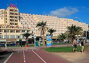 Palm Garden hotel balconies at Solana Matoral, Morro Jable, Jandia peninsula, Fuerteventura, Canary Islands, Spain