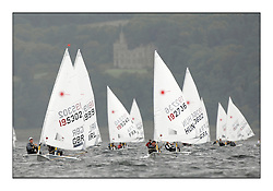The second day of racing at the World Laser Radial Youth Championships, Largs, Scotland..Elliot Hanson GBR 195302 and Bath? Peter HUN 192736.317 Youth Sailors from 42 different nations compete in the World and European Laser Radial Youth Champiponship from the 17-25 July 2010...The Laser Radial World Championships take place every year. This is the first time they have been held in Scotland and are part of the initiaitve to bring key world class events to Britain in the lead up to the 2012 Olympic Games. ..The Laser is the world's most popular singlehanded sailing dinghy and is sailed and raced worldwide. ..Further media information from .laserworlds@gmail.com.event press officer mobile +44 7866 571932 and +44 1475 675129 .