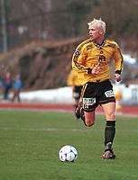 99052008: Moss-spiller Jan Tore Ophaug. Stabæk - Moss 23. april 1999. (Foto: Peter Tubaas)