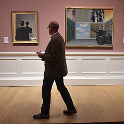 Not to be Reproduced, René Magritte, On the threshold of Liberty, René Magritte, Scottish National Gallery of Modern Art  (Modern One) Surreal Encounters Collection, Edinburgh, 2nd June 2016, <br /> (c) Brian Anderson | Edinburgh Elite media