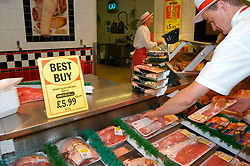 Meat on sale in Morrisons supermarket UK