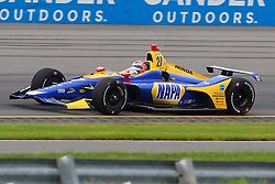 August 19, 2018 - Long Pond, PA, U.S. - LONG POND, PA - AUGUST 19:   Andretti Autosport driver Alexander Rossi (27) of United States drives during the IndyCar Series ABC Supply 500 on August 19, 2018, at Pocono Raceway in Long Pond, PA.  (Photo by Rich Graessle/Icon Sportswire) (Credit Image: © Rich Graessle/Icon SMI via ZUMA Press)