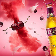 Cherries colliding under water creating an explosion of cherry flavours Ray Massey is an established, award winning, UK professional  photographer, shooting creative advertising and editorial images from his stunning studio in a converted church in Camden Town, London NW1. Ray Massey specialises in drinks and liquids, still life and hands, product, gymnastics, special effects (sfx) and location photography. He is particularly known for dynamic high speed action shots of pours, bubbles, splashes and explosions in beers, champagnes, sodas, cocktails and beverages of all descriptions, as well as perfumes, paint, ink, water – even ice! Ray Massey works throughout the world with advertising agencies, designers, design groups, PR companies and directly with clients. He regularly manages the entire creative process, including post-production composition, manipulation and retouching, working with his team of retouchers to produce final images ready for publication.