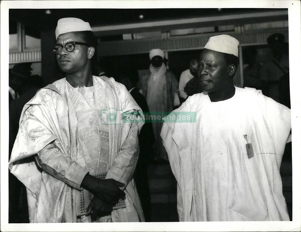 Sep. 09, 1996 - Ali - Nigeria constitutional yalks, Lagos, Sept. 1966.: Chief Anthony Enahoro (left), and Chief S.C. Igbodaro, both form the mid-West, at the opening of the talks. (Credit Image: © Keystone Press Agency/Keystone USA via ZUMAPRESS.com)