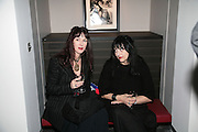 JULIA BRATTON AND LINDA BEE, Helmut Newton XL. Hamiltons. Carlos Place. London. 25 September 2007. -DO NOT ARCHIVE-© Copyright Photograph by Dafydd Jones. 248 Clapham Rd. London SW9 0PZ. Tel 0207 820 0771. www.dafjones.com.