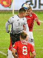 Football - 2020 / 2021 Sky Bet Championship - Swansea City vs Barnsley - Liberty Stadium<br /> <br /> Jake Bidwell of Swansea heads at goal<br /> <br /> COLORSPORT/WINSTON BYNORTH