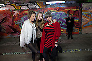 ROSE LANGLEY; ANOUSKHA BECKWITH; RAY SHAPPS, Stephen Webster: 7 Deadly Sins And No Regrets - launch party, Old Vic Tunnels (formerly Leake Street Tunnel), Waterloo, London SE1, 8 December 2010. DO NOT ARCHIVE-© Copyright Photograph by Dafydd Jones. 248 Clapham Rd. London SW9 0PZ. Tel 0207 820 0771. www.dafjones.com.