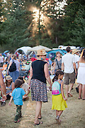 a family at Pickathon 2012 at Pendarvis Farm in Happy Valley, OR. Photo by Jason Quigley