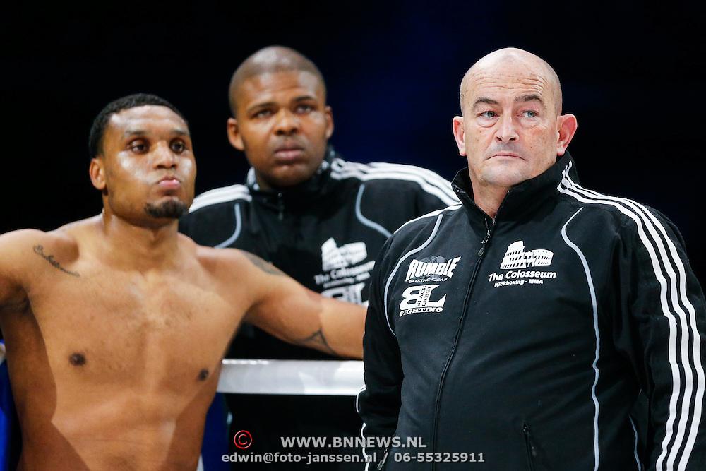 CRO/Zagreb/20130315- K1 WGP Finale Zagreb, Jason Wilnis en trainer Danny de Vries