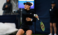 Belinda Bencic of Switzerland in action against Petra Martic of Croatia during the first round at the 2021 Viking International WTA 500 tennis tournament on June 22, 2021 at Devonshire Park Tennis in Eastbourne, England - Photo Rob Prange / Spain ProSportsImages / DPPI / ProSportsImages / DPPI