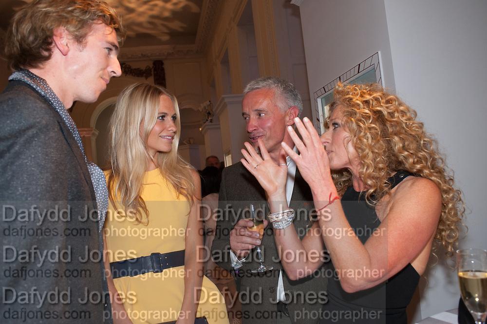 JAMES COOK; POPPY DELEVIGNE; JOHN GARDNER; KELLY HOPPEN, Cartier Tank Anglaise launch. Kensington Palace Orangery, London.  19 April 2012.