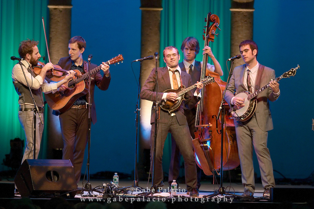 Punch Brothers featuring Chris Thile perfoming during the American Roots:New Shoots Bluegrass Festival  at Caramoor in Katonah New York on July 3th, 2010..(photo by Gabe Palacio)