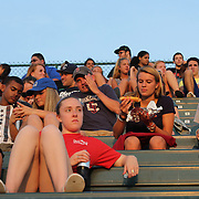 Fans in the stands during the New Britain Rock Cats Vs Binghamton Mets Minor League Baseball game at New Britain Stadium, New Britain, Connecticut, USA. 2nd July 2014. Photo Tim Clayton