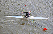 London, Great Britain,C GILLEVER, Kingston RC.  passes under Chiswick Bridge at the start of the 2009 Scullers Head of the River Race, raced over the Championship Course, Mortlake to Putney, on the River Thames, 13:06:25  Saturday  28/11/2009,  [Mandatory Credit: © Peter Spurrier/Intersport Images]
