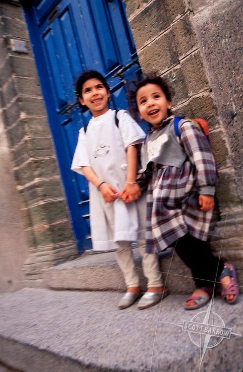 Moroccan Children on their way to school.