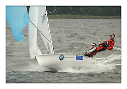470 Class European Championships Largs - Day 3.Brighter conditions with more wind...AUT437, David BARGEHR, Lukas M?HR, Yacht Club Bregenz