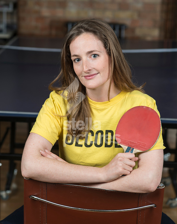 Harriet Pellereau of Decoded. pictured playing Ping Pong. <br /> Picture by Daniel Hambury/Stella Pictures Ltd +44 7813 022858<br /> 30/05/2014