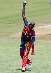 Eddie Leie of the Bizhub Highveld Lions during the T20 Challenge cricket match between the Lions and the Warriors at the Kingsmead stadium in Durban, KwaZulu Natal, South Africa on the 4th December 2016<br /> <br /> Photo by:   Steve Haag / Real Time Images