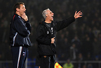 Photo: Ashley Pickering.<br /> Ipswich Town v Wolverhampton Wanderers. Coca Cola Championship. 20/02/2007.<br /> Wolves manager Mick McCarthy (R) shouts his orders as Ipswich manager Jim Magilton looks on